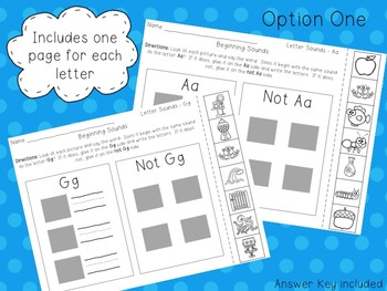 Beginning Letter Sounds Phonics Activity