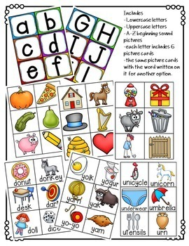 Beginning Letter Sounds Pocket Chart