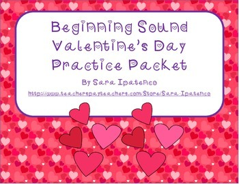 Beginning Letter Sounds Phonices Practice Packet - Valenti