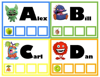 Beginning Letter Sounds Printable Matching Book