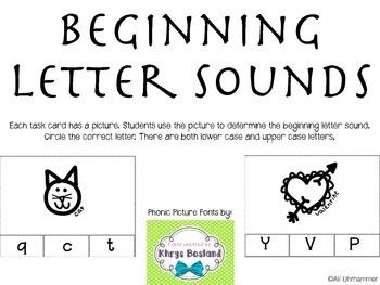 Beginning Letter Sounds Task Cards