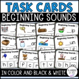 Beginning Letter Sounds Task Cards with BOOM Cards Distanc