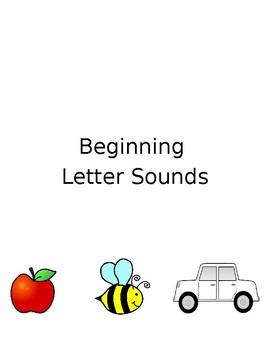 Beginning Letter Sounds Task Folder