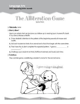 Beginning Letter Sounds (Ten-Minute Activities)