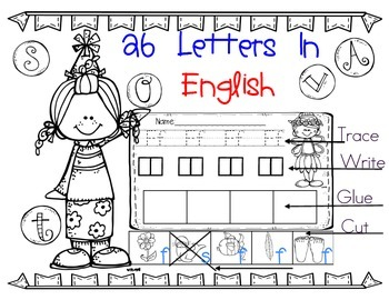 Beginning Letter Sounds: Trace, Cut & Paste Pictures