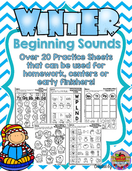 Beginning Letter Sounds Winter Theme