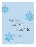 Beginning Letter Sounds Winter Worksheets