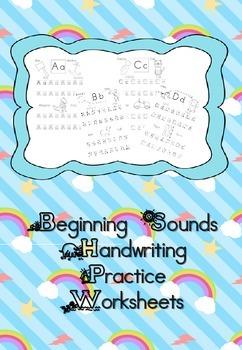 Beginning Letter Sounds Worksheets