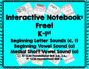 Interactive Notebook: Beginning Letter and Short Vowel Sounds