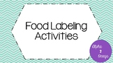 Food Labeling Activities for Life Skills and Autism Classroom