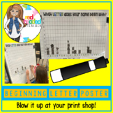 Beginning Letter in Name Classroom Poster