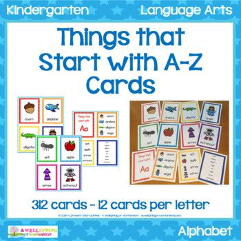 things that start with a-z cardsa wellspring of worksheets | tpt