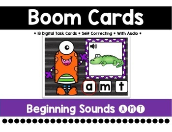 Beginning Letters Boom Cards {A, M, T}