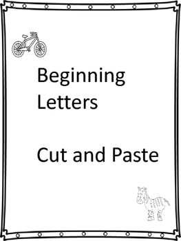 Beginning Letters Cut and Paste