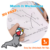 Beginning Letters Match-It Worksheets