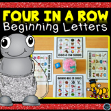 Four in a Row - Beginning Letter Sounds Game