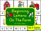 Beginning Letters: On The Farm {Clip It Literacy Games and Literacy Centers}