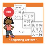 Beginning Letters Worksheet