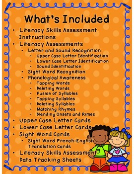 Beginning Literacy Assessment - FRENCH