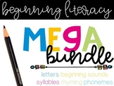 Beginning Literacy MEGA Bundle (The ENDLESS Set)