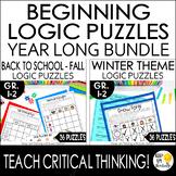 Beginning Logic Puzzles Bundle for K-2