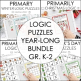 Beginning Logic Puzzles Bundle for K-2