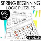 Logic puzzles Gr. 1-3: Beginning Spring Logic Puzzles DIGI