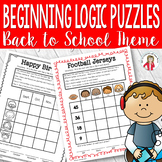 Fall theme Logic Puzzles Gr. 1-3