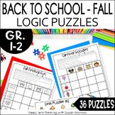 Fall theme Logic Puzzles Gr. 1-3