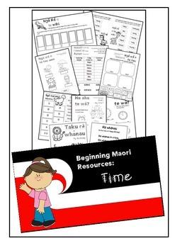 Beginning Maori Activities - Time