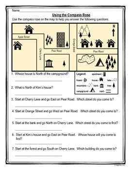 Beginning Mapping Skills Worksheets