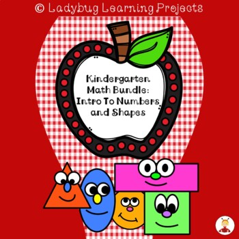 Beginning Math Bundle:  Introducing Numbers and Shapes to Kindergarteners