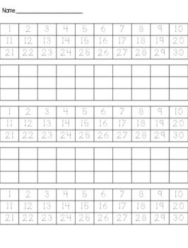 Beginning Math Packet