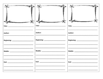 Beginning, Middle, End Bookmarks