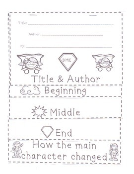 Beginning, Middle, End Flap Book