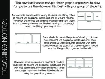 Beginning Middle End Graphic Organizer