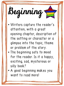 Beginning, Middle & End Graphic Organizer & Anchor Charts