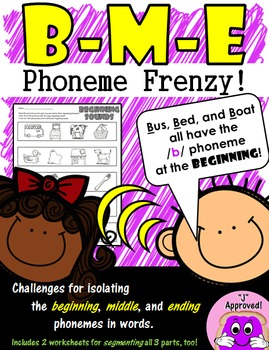 Beginning, Middle, End Phoneme Frenzy