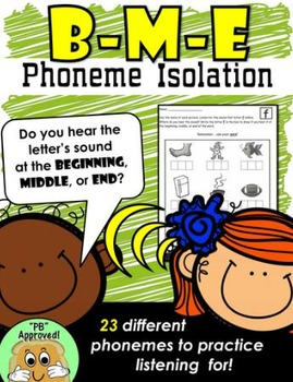 Beginning, Middle, End Phoneme Isolation