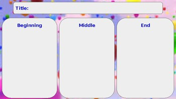 Beginning, Middle, End/ Problem and Solution Graphic Organizers