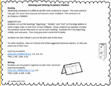 Beginning Middle End Reading and Writing Organizer