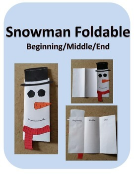 Beginning/Middle/End Snowman Foldable Writing Craft(Christmas)