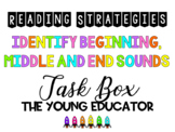 Beginning, Middle, End Sounds Reading Strategy - READING BOOSTER PACK 12/12