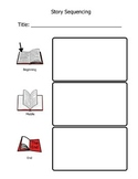 Beginning/Middle/End Story Summary Retell Worksheet (Pictures only)