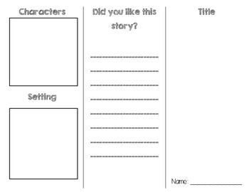 Beginning, Middle, End Tri fold Graphic Organizer