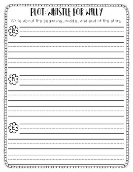 Beginning, Middle, End - Whistle for Willy organizer