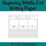 Beginning, Middle, End Writing Paper