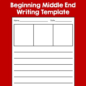 Beginning Middle End Writing Template FREE