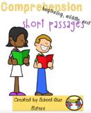 Beginning/Middle/End comprehension short passages