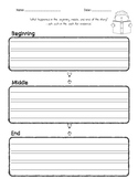 Beginning, Middle, End - writing template